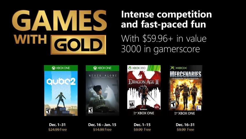 Бесплатные игры для подписчиков Xbox Live Gold в декабре