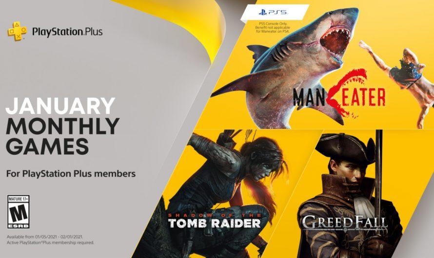 Представлена бесплатная подборка игр для подписчиков PlayStation Plus в январе 2021