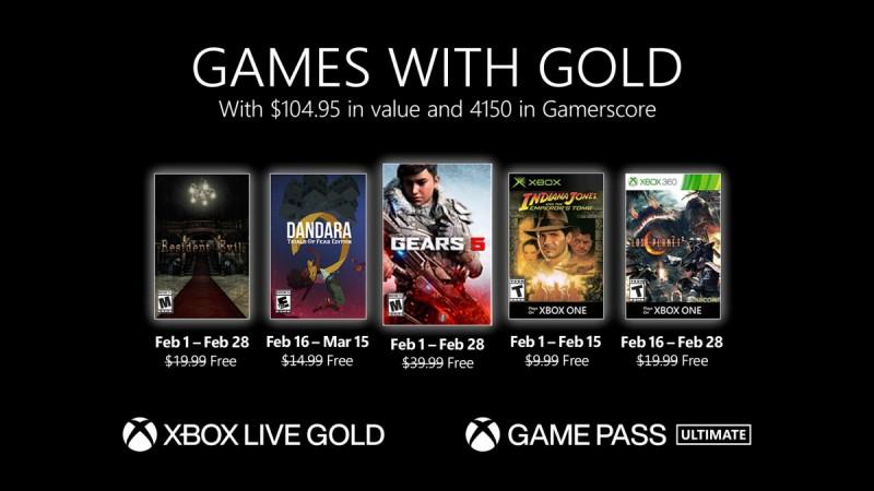 Опубликован список игр которые войдут в библиотеку Xbox Live Gold в феврале 2021 года