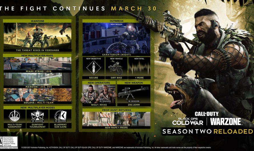 Перезагрузка второго сезона в Black Ops Cold War и Warzone стартует 30 марта