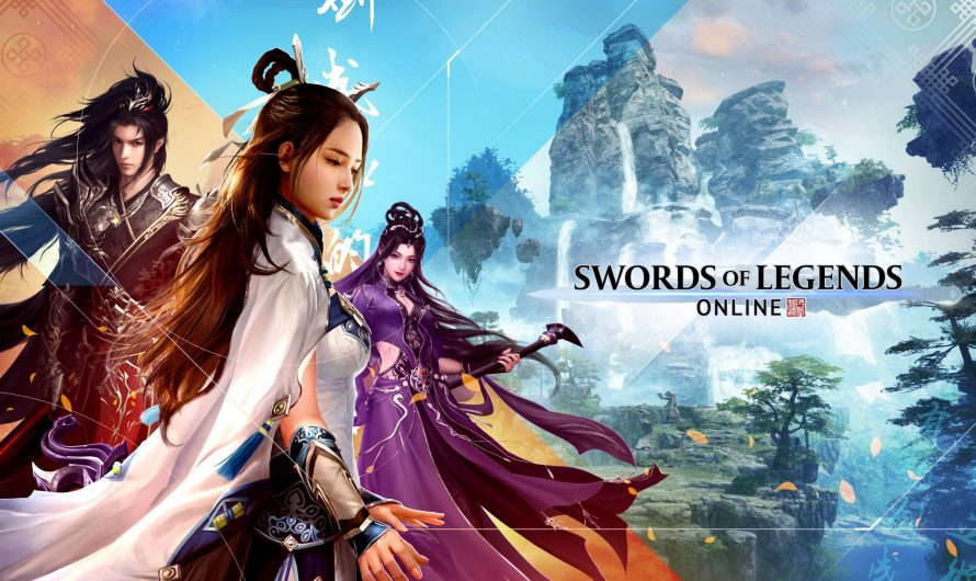 Фрагменты игрового процесса боевика Swords of Legends Online