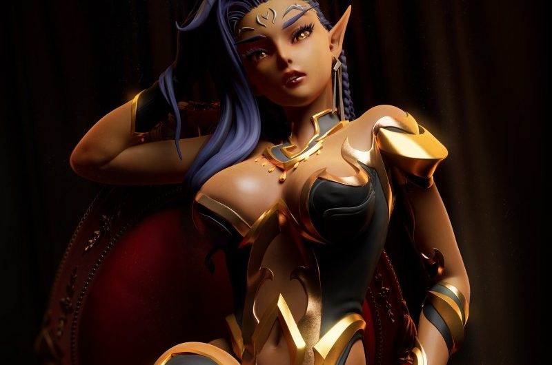 Представлена модель персонажа Элайши для Subverse