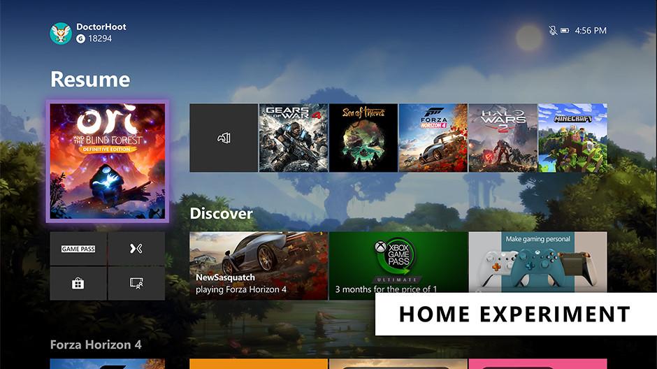 Для Xbox One ожидается обновление интерфейса