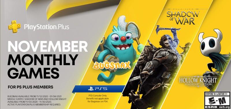 Представлена ноябрьская подборка игр по подписке PS Plus